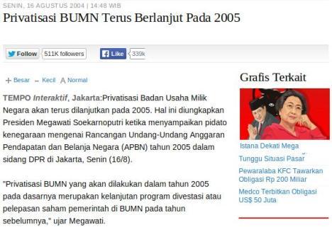 Privatisasi Megawati